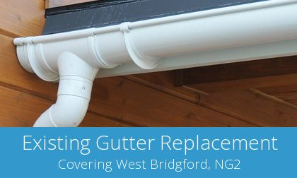 West Bridgford replacement gutter costs