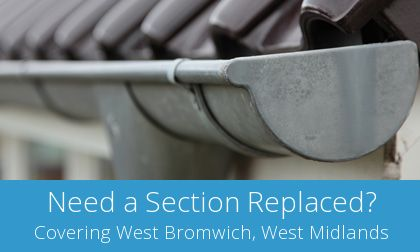 costs for gutter replacement in West Bromwich
